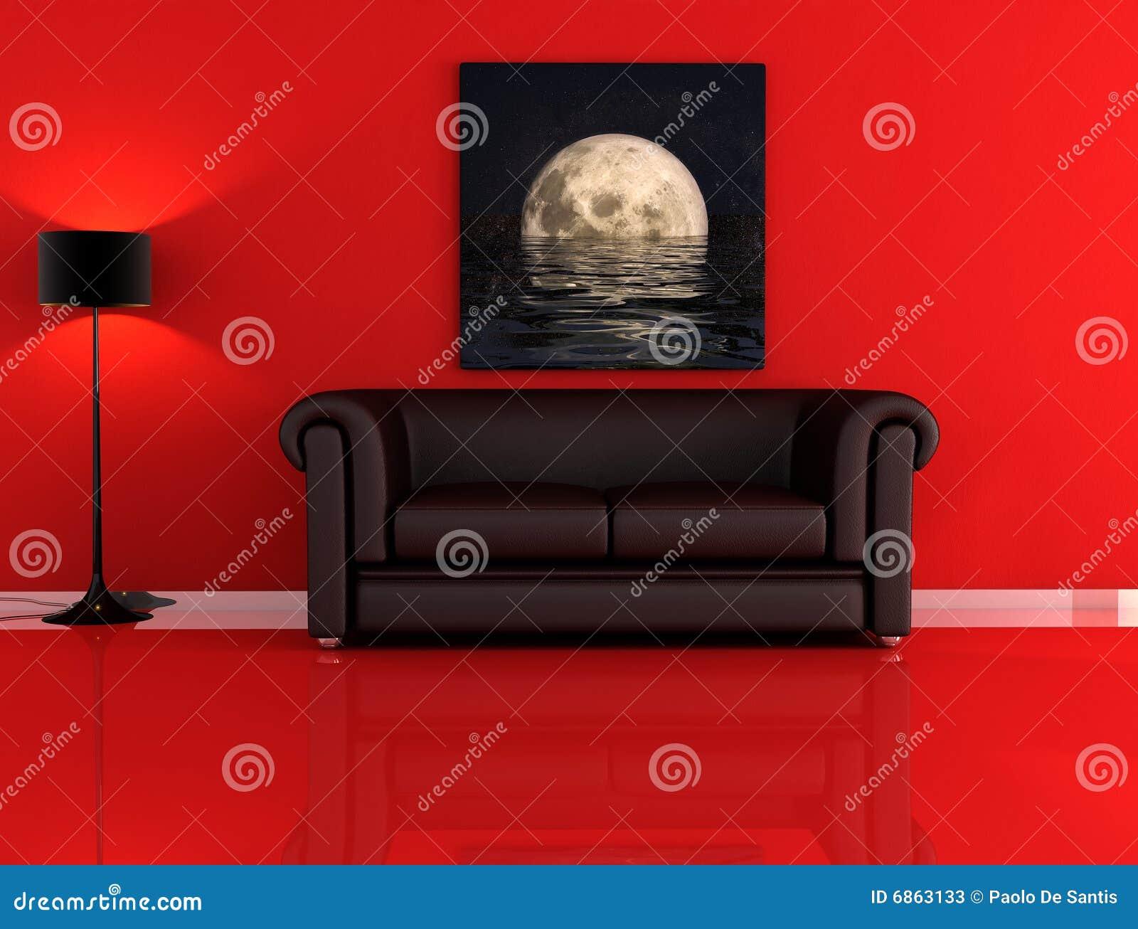 quarto preto : Quarto Vermelho E Preto Fotos de Stock - Imagem: 6863133