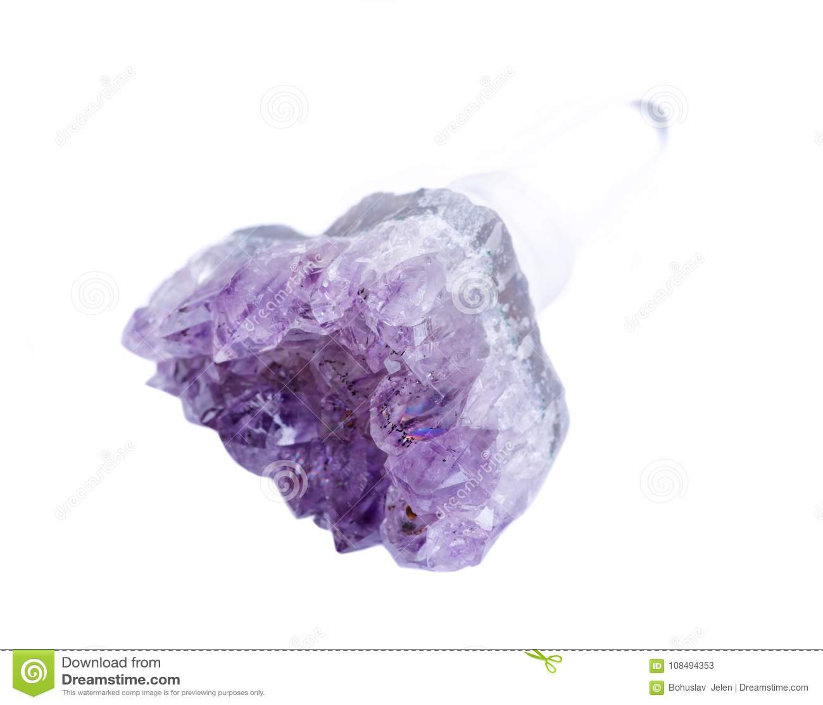 Quartz Crystal Gemstone Wine Stopper d améthyste