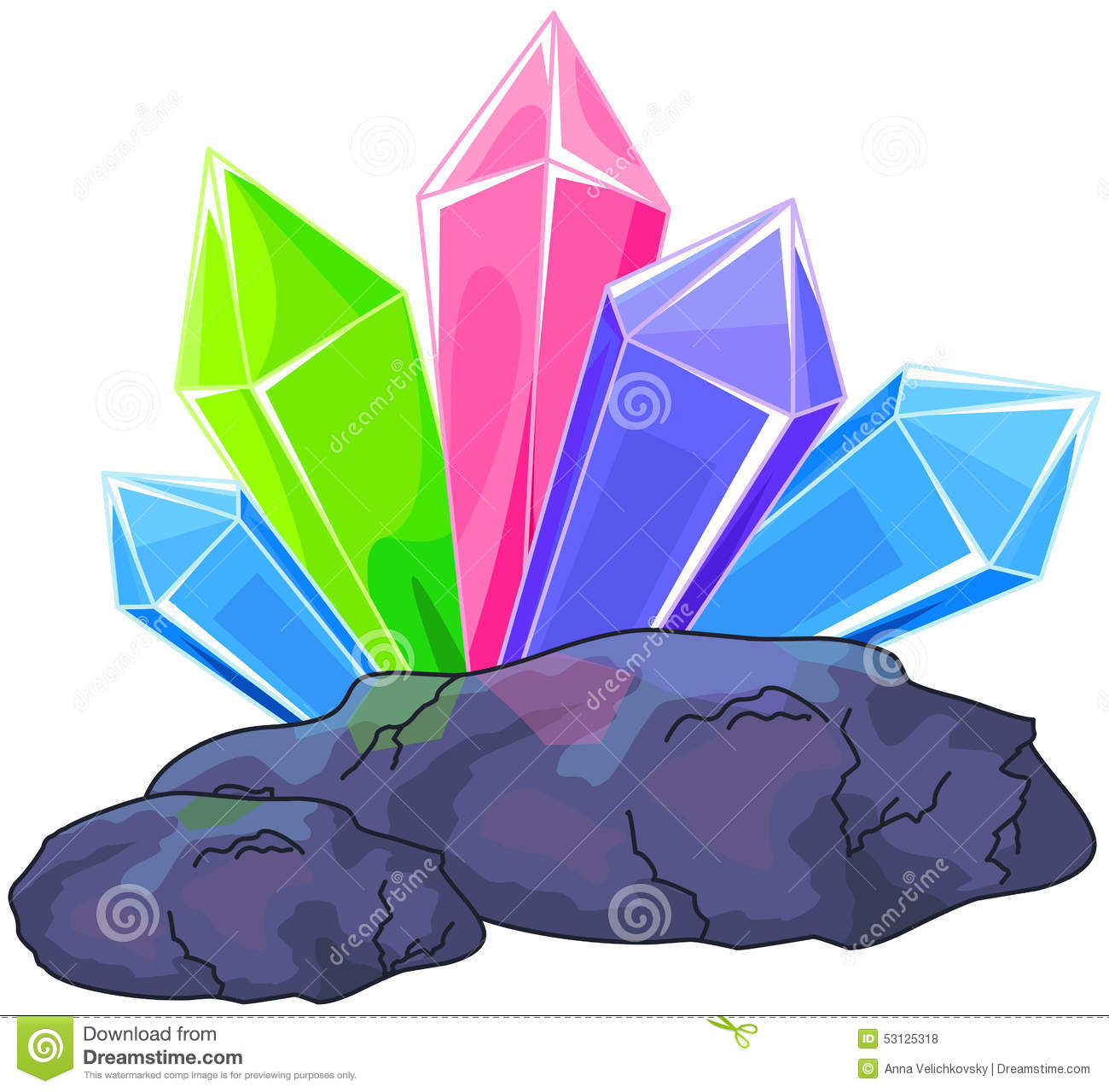 Quartz crystal stock vector. Image of flyer, multi ...