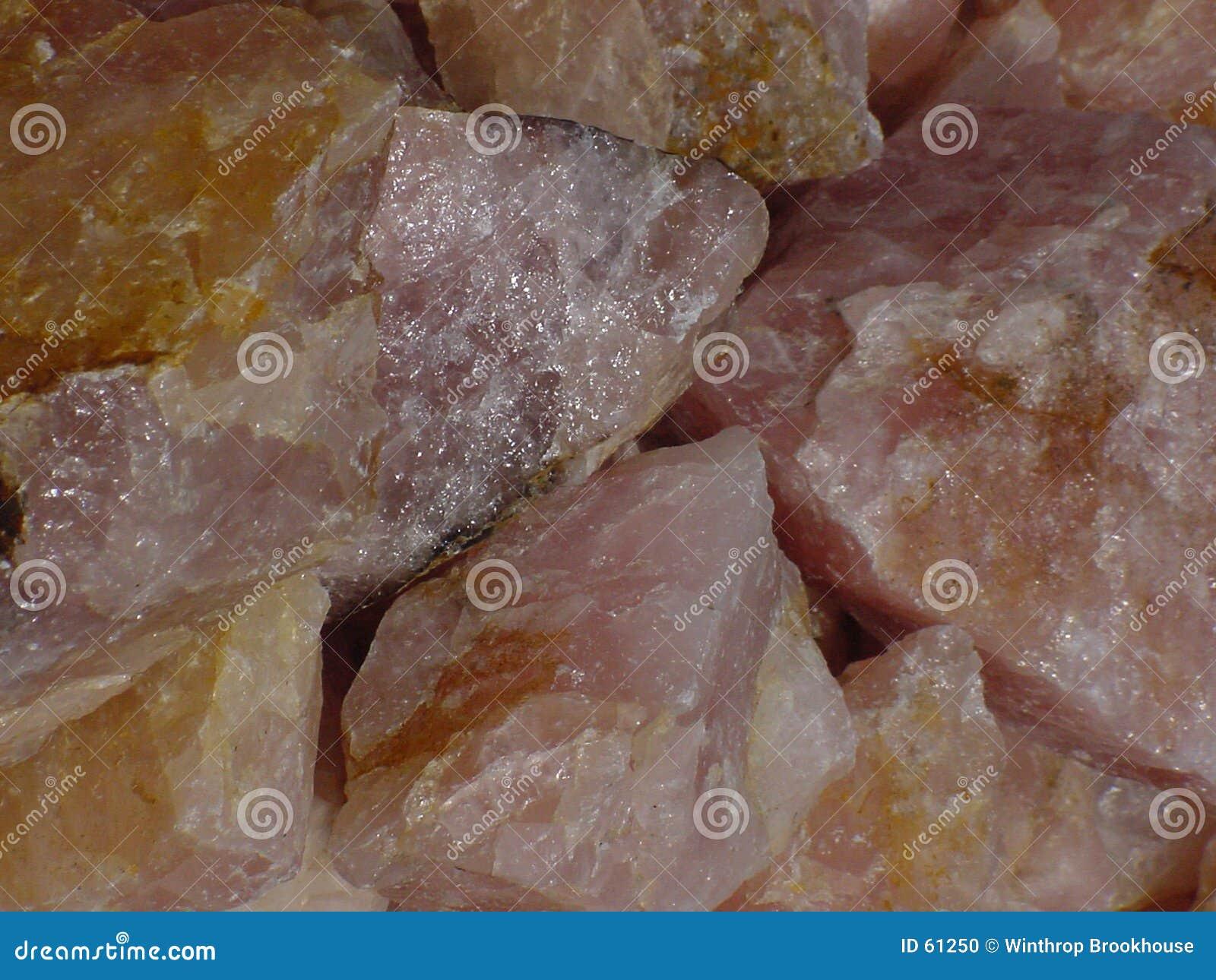 Download Quartz de Rose photo stock. Image du cristal, rose, texture - 61250