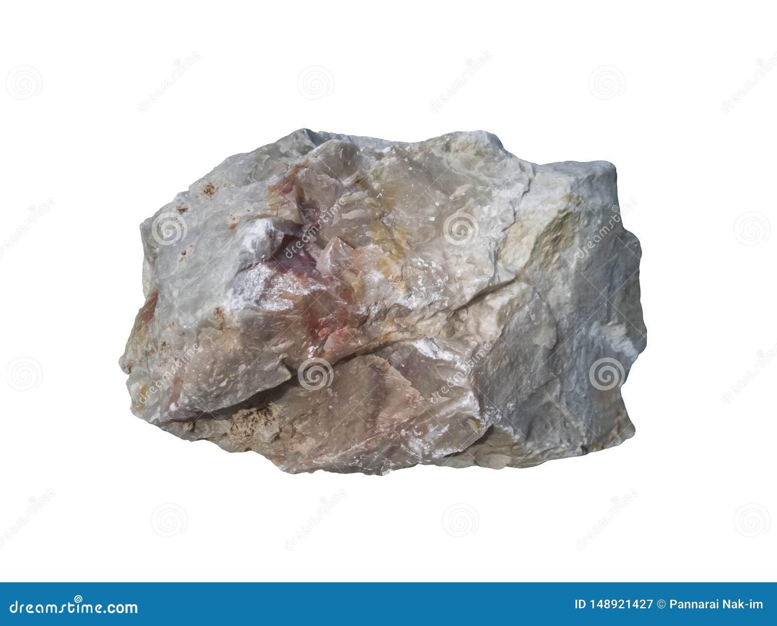 Quartzite stone isolated on white background.
