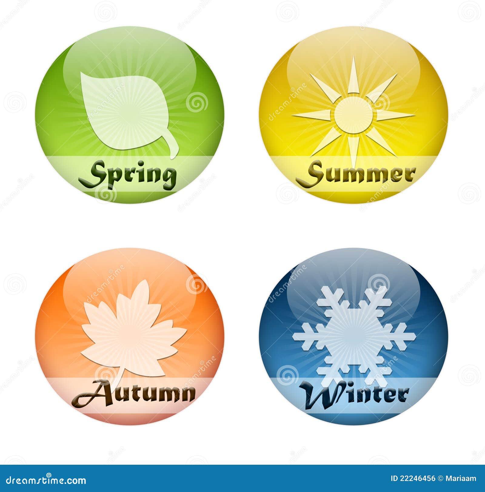 Quatre boutons de saisons
