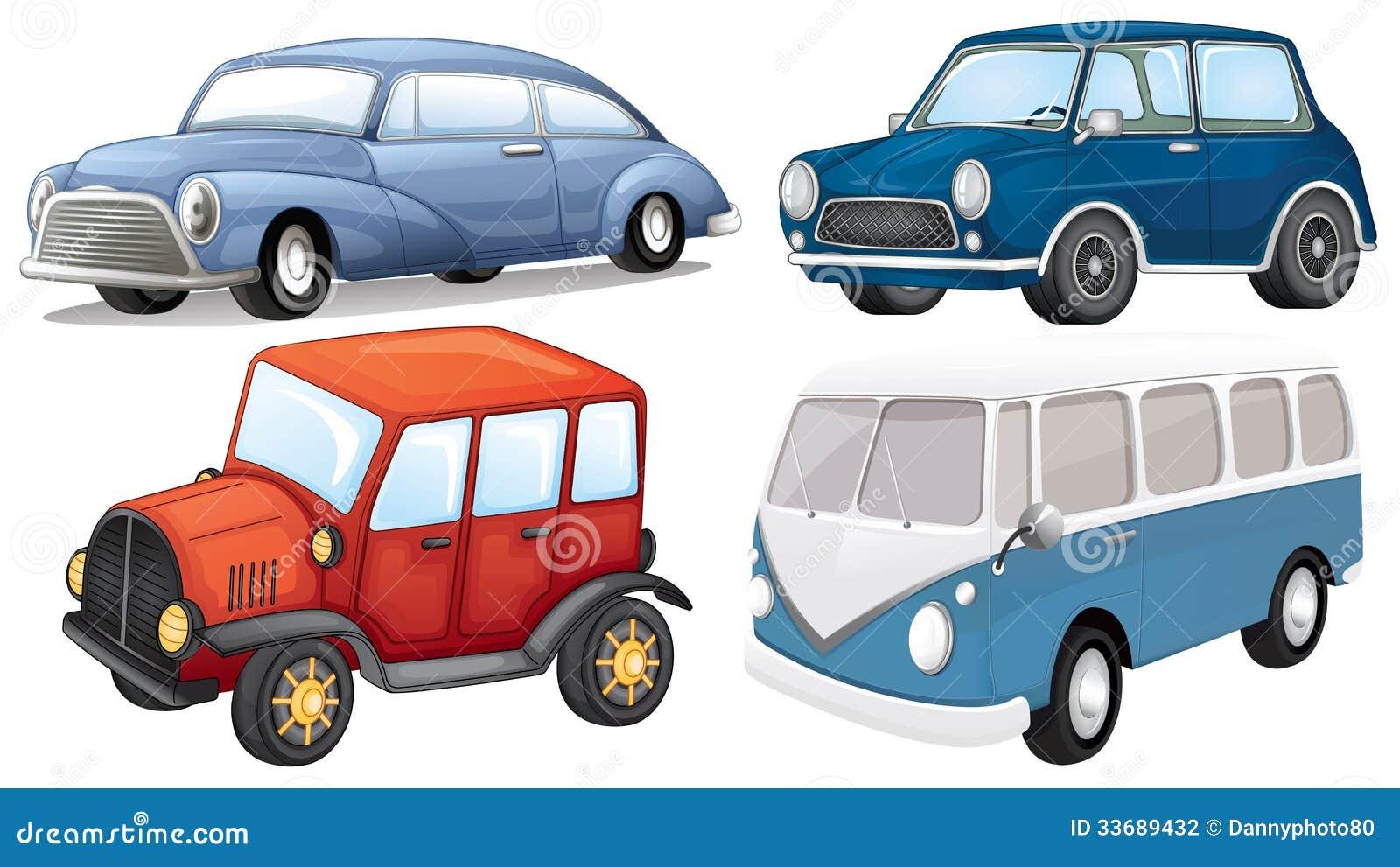Quatre genres différents de transport