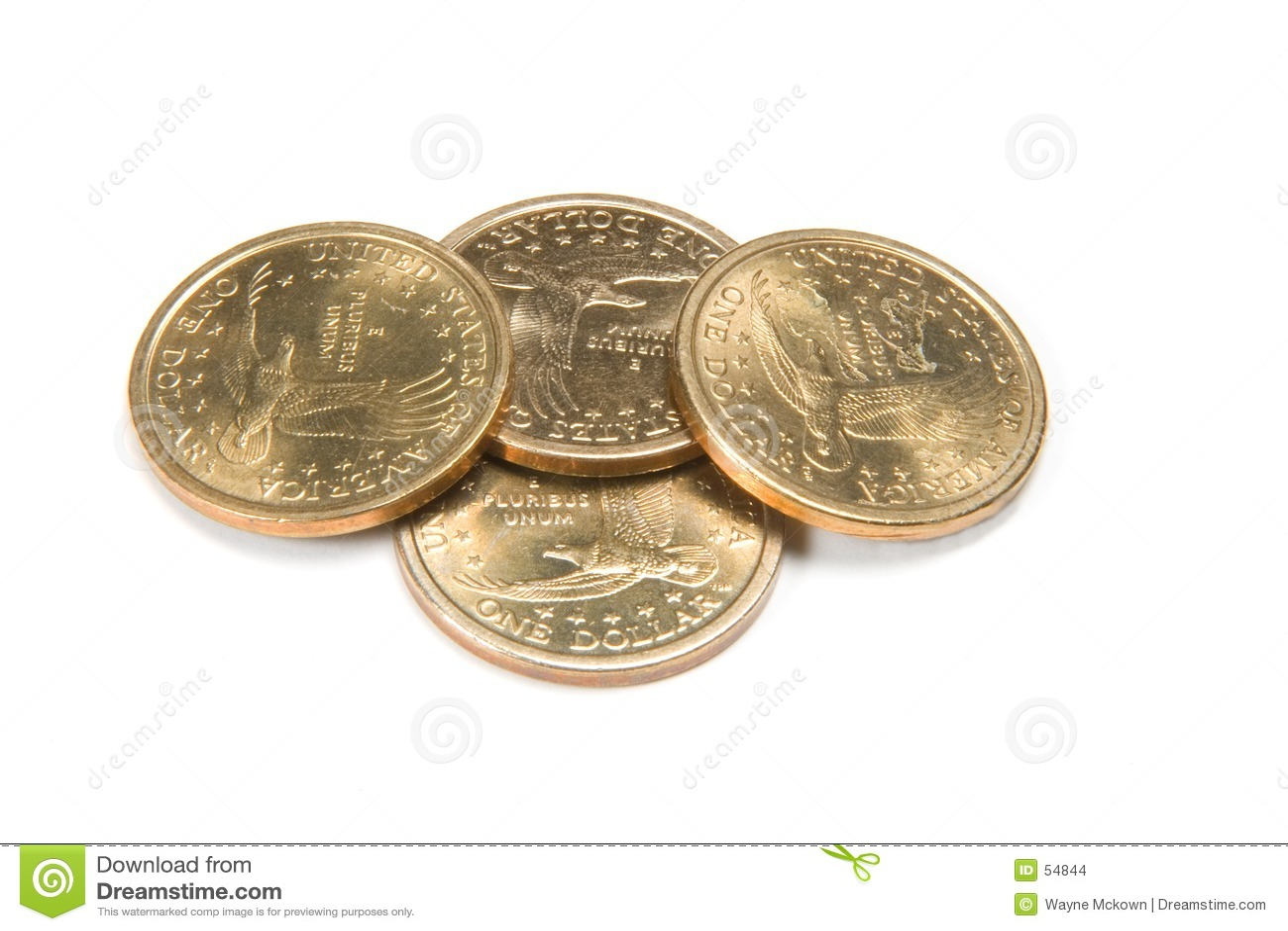 Download Quatre Pièces De Monnaie D'or Photo stock - Image du gagnez, deposit: 54844