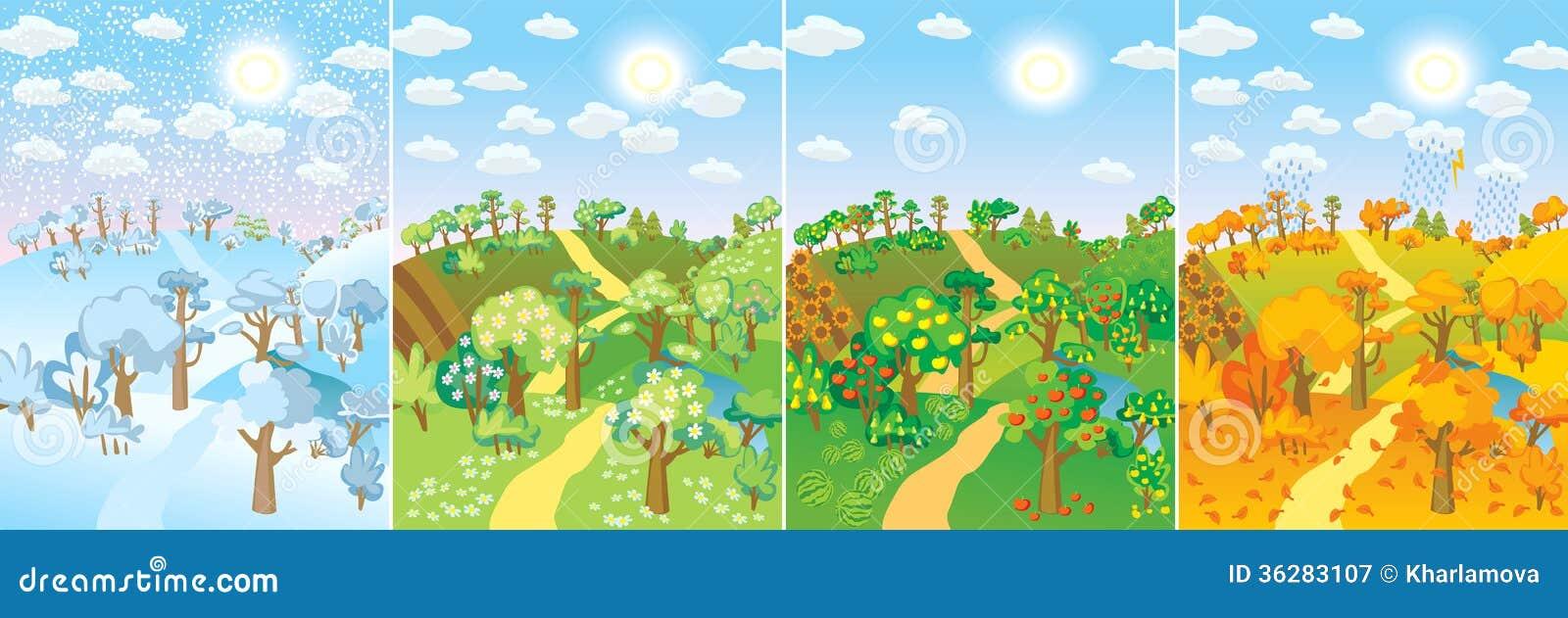 Quatre saisons photographie stock libre de droits image for Le jardin des 4 saisons pusignan