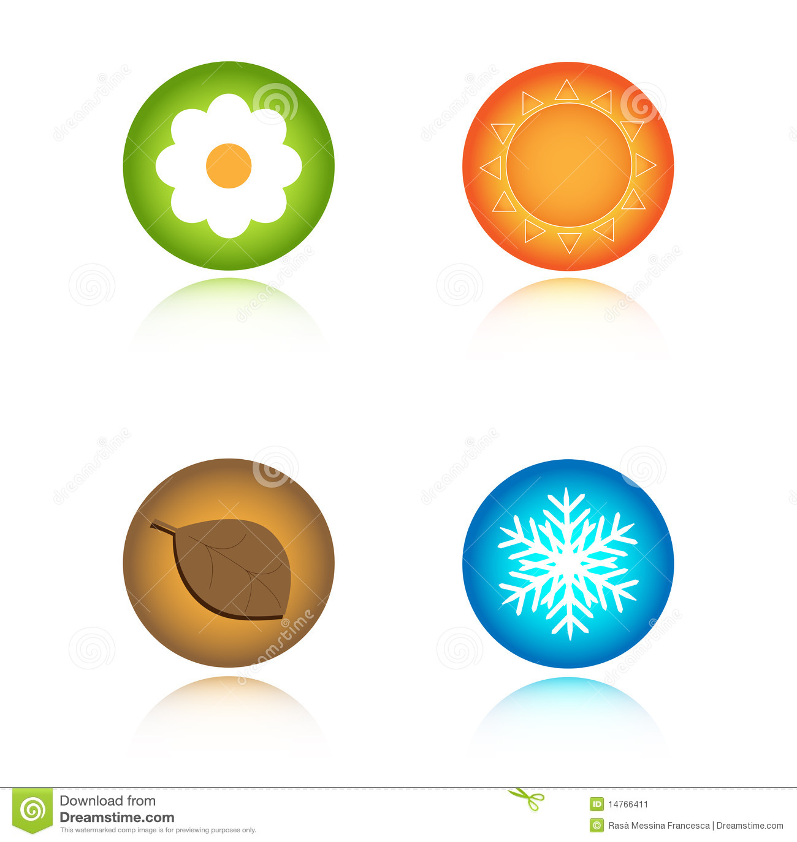 Quatro ícones das estações