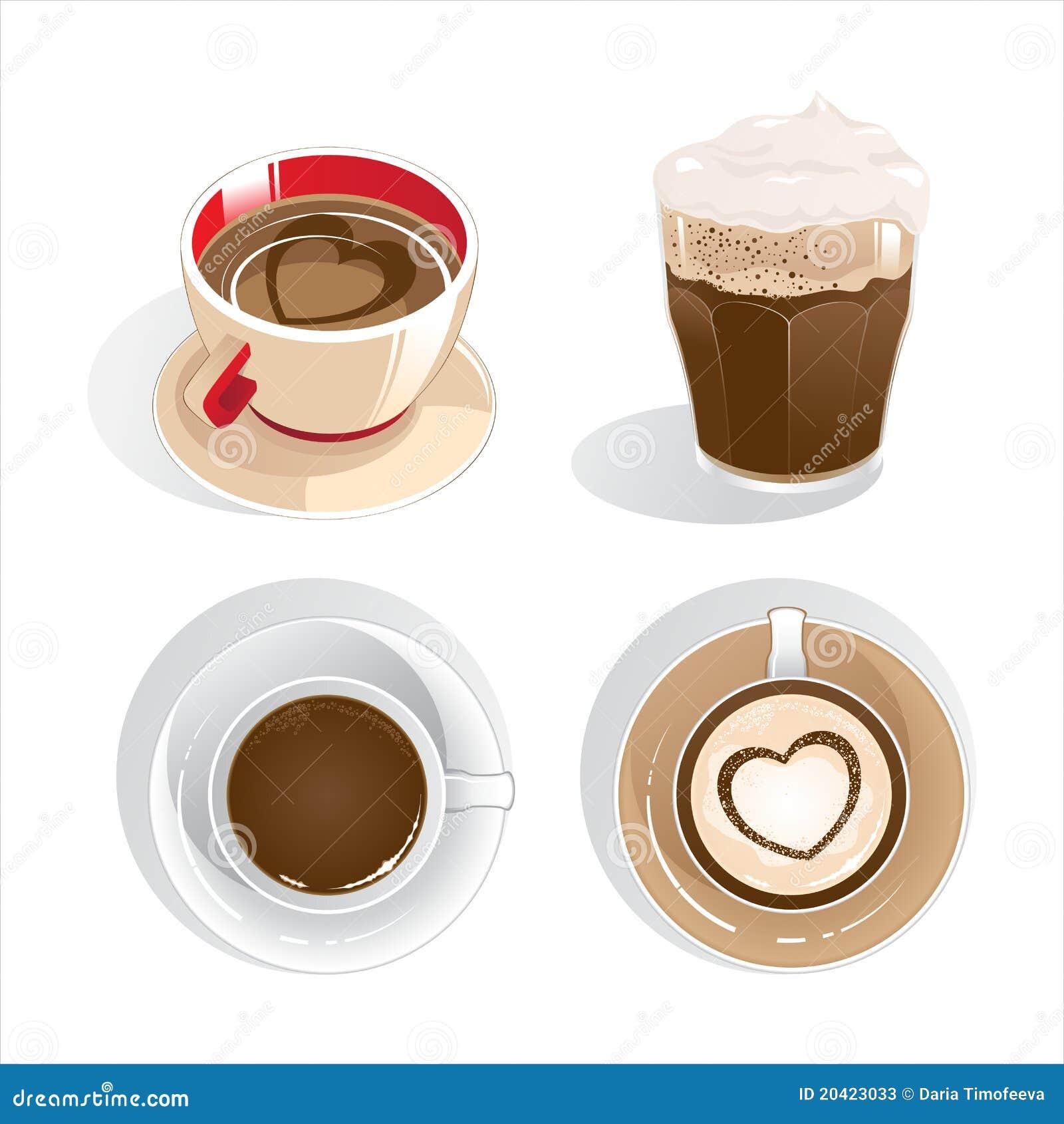 Quatro chávenas de café