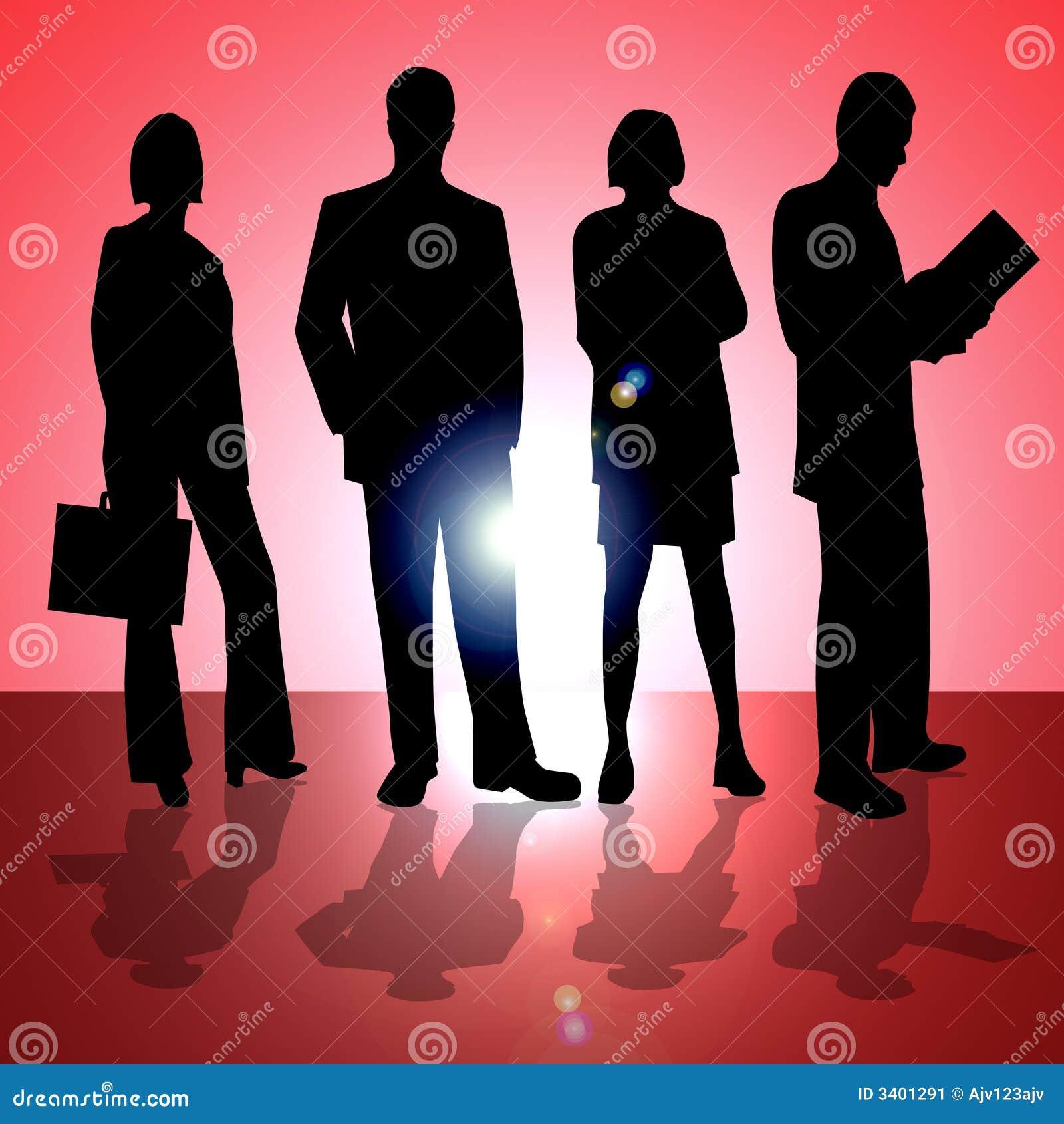 Quatro executivos