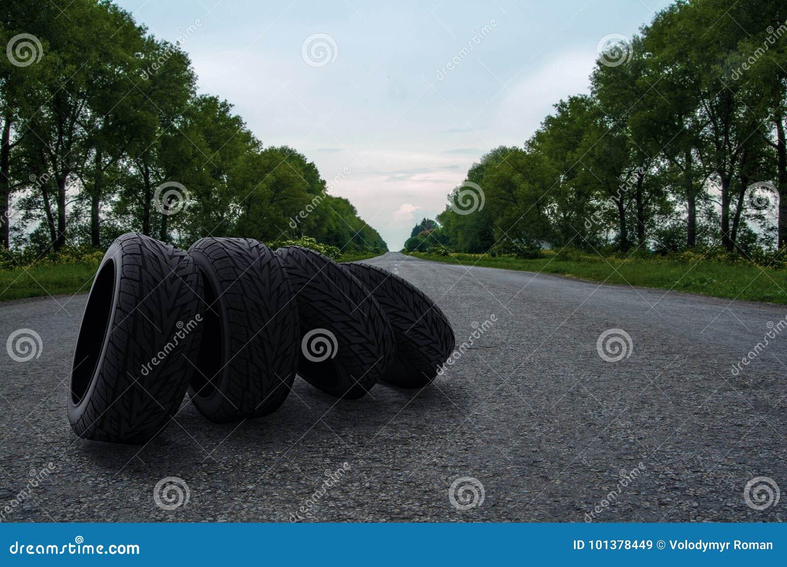 Quatro pneus na estrada