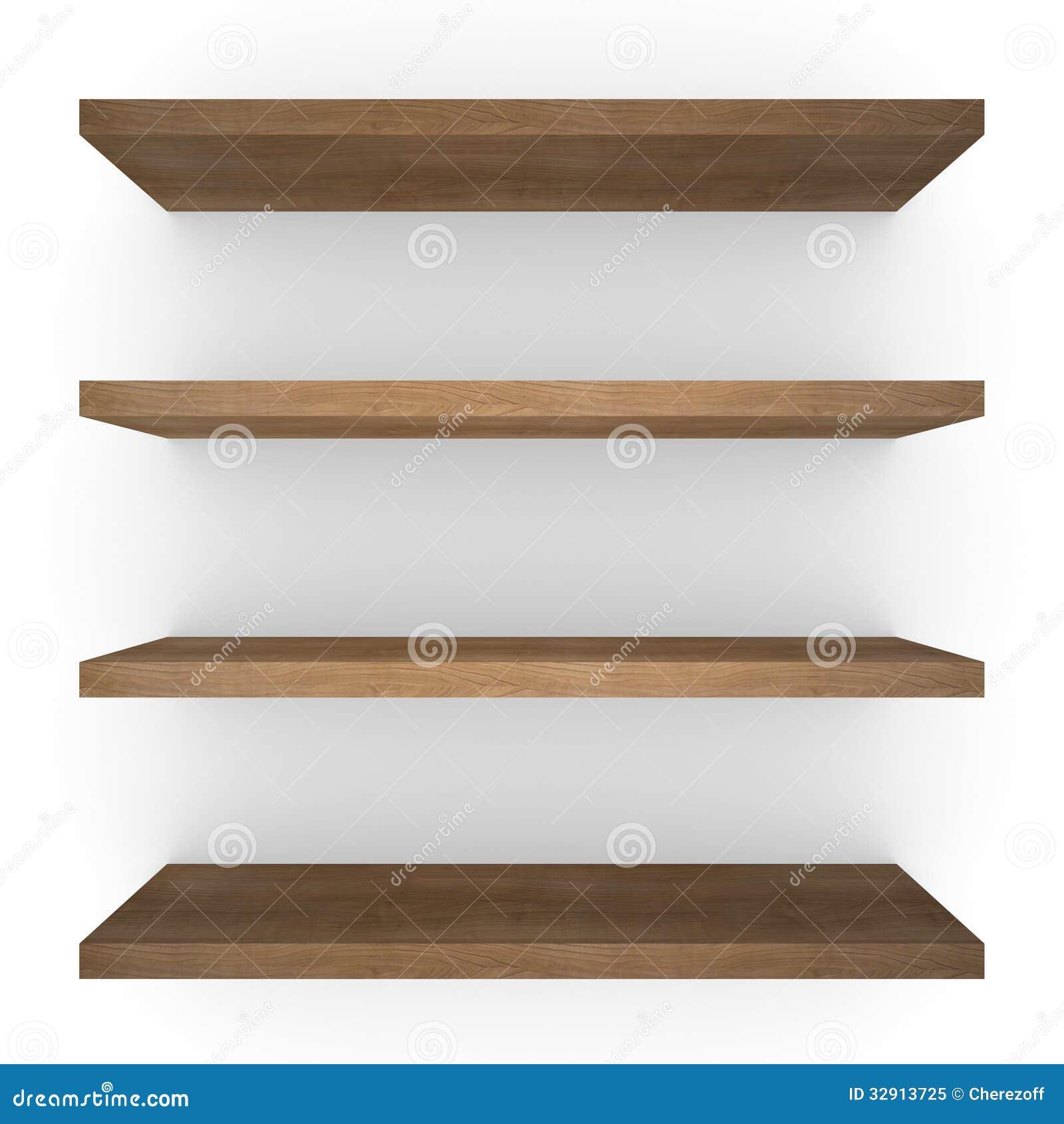 Quatro shelfs de madeira