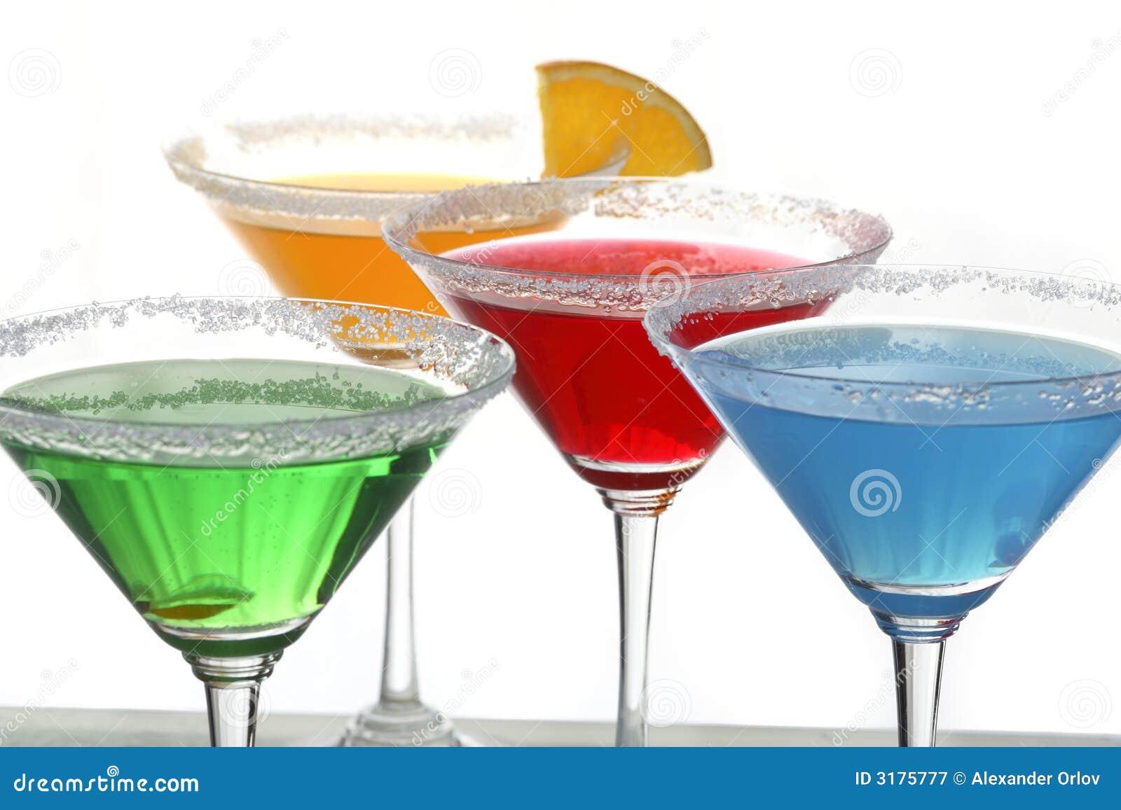 quattro cocktail colorati 2 fotografia stock libera da diritti immagine 3175777. Black Bedroom Furniture Sets. Home Design Ideas