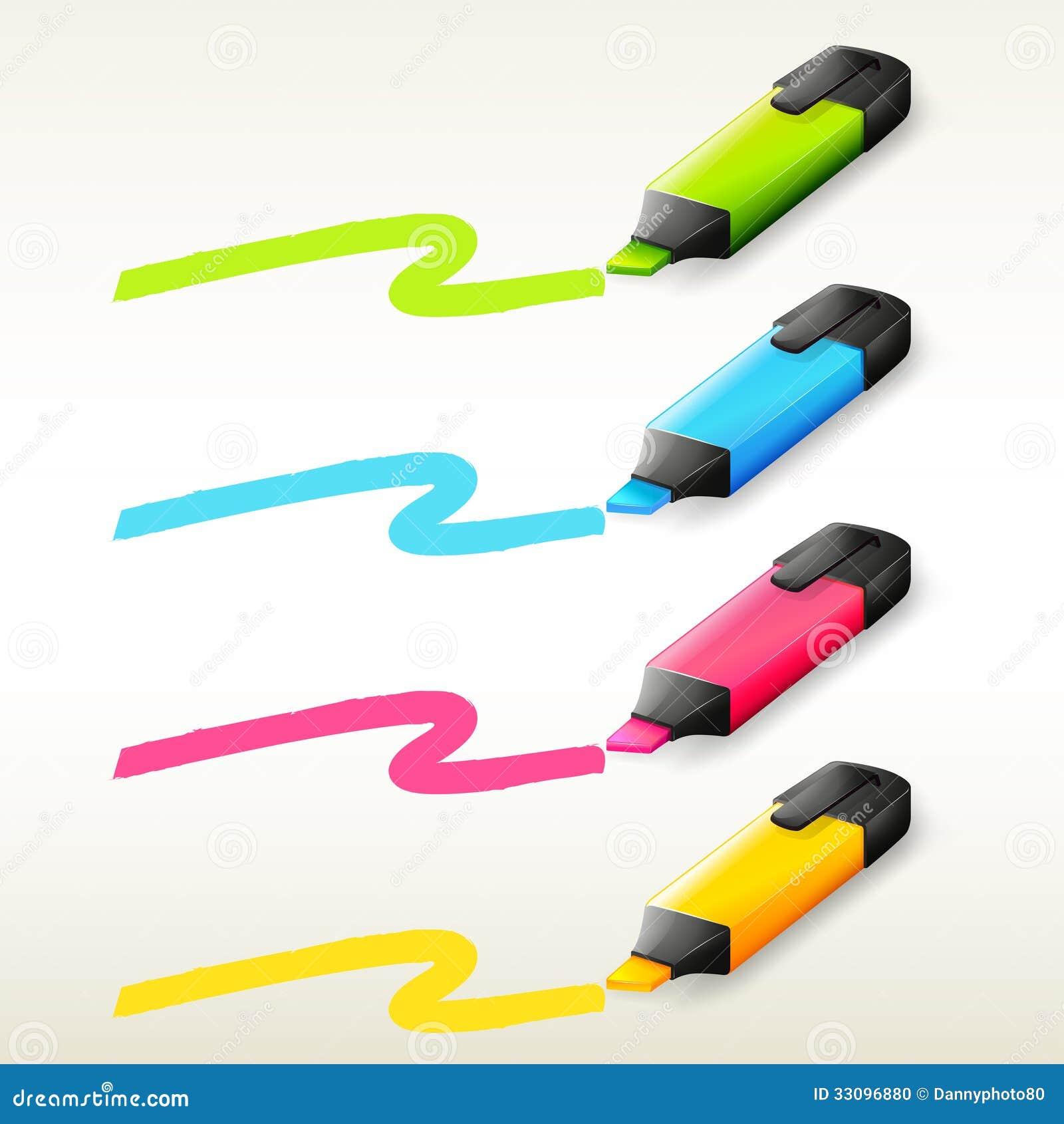 Quattro indicatori nei colori differenti