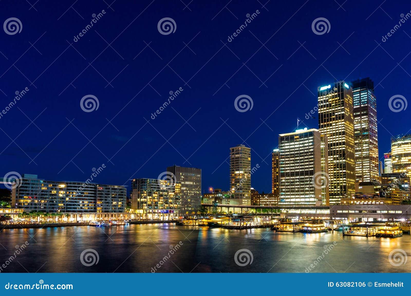 Download Quay Circulaire Et Sydney Business District Centre Photo stock - Image du architecture, côté: 63082106