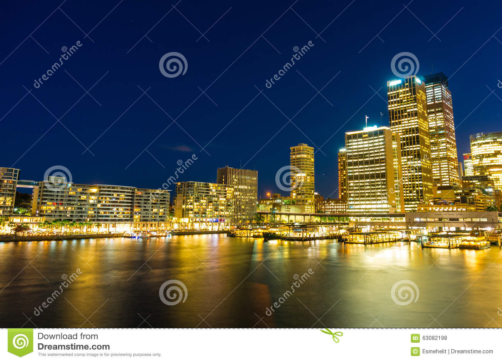 Download Quay Circulaire Et Sydney Business District Centre Photo stock - Image du côtier, célèbre: 63082198