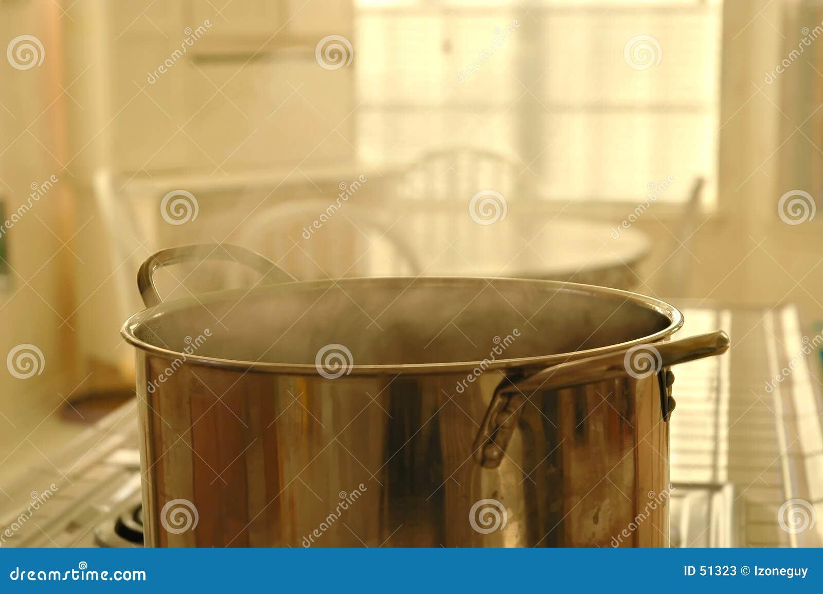 Que está cozinhando?