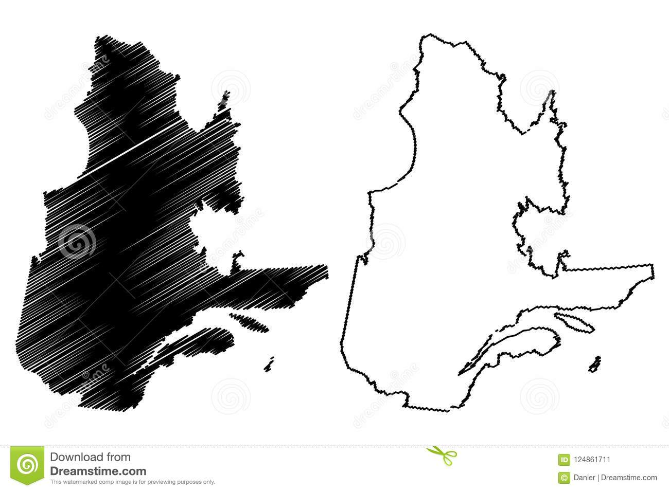 Quebec On Map Of Canada.Quebec Canada Map Vector Stock Vector Illustration Of Isolated