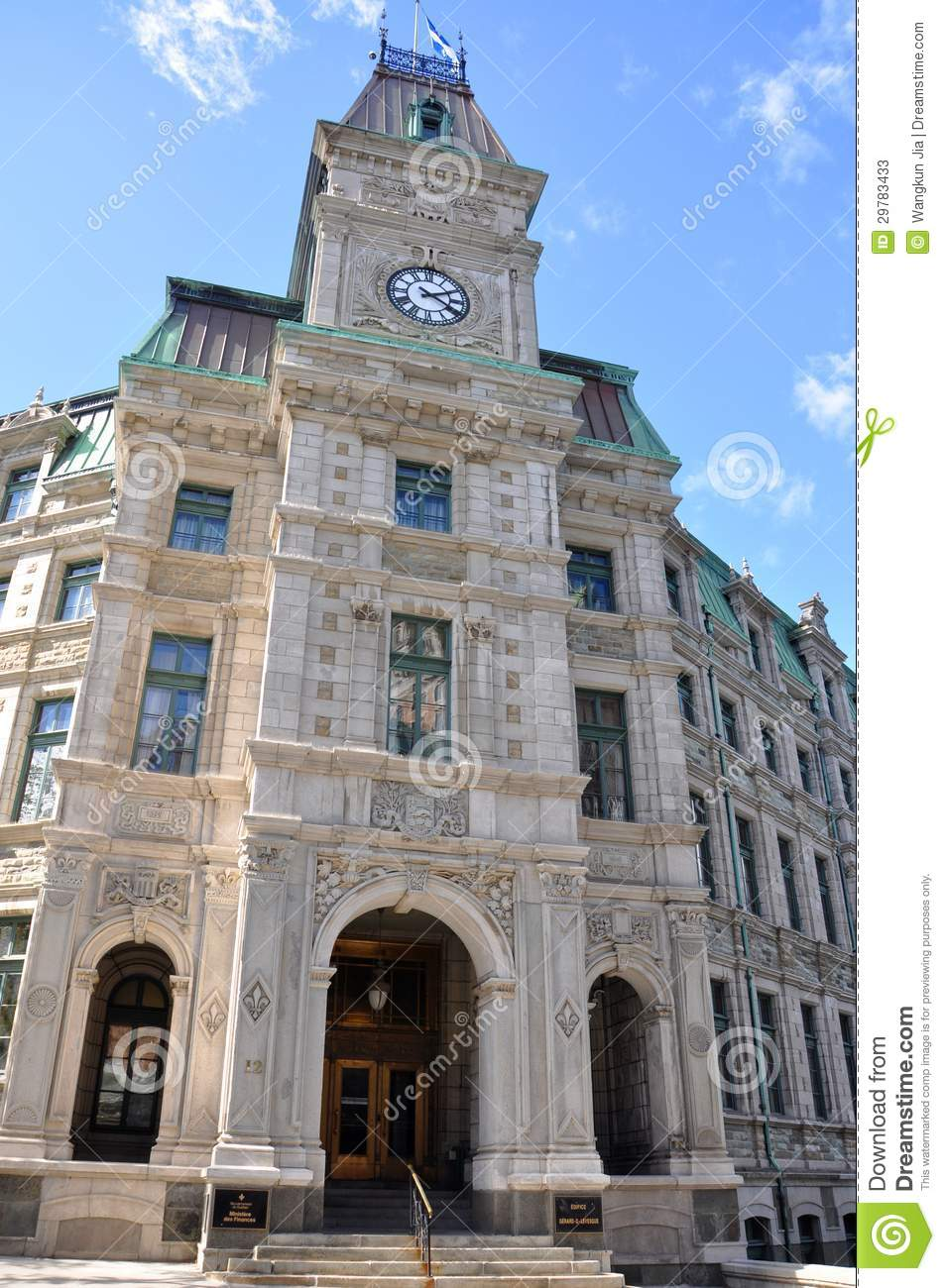 Quebec city court house editorial stock photo image of for Architecture quebec