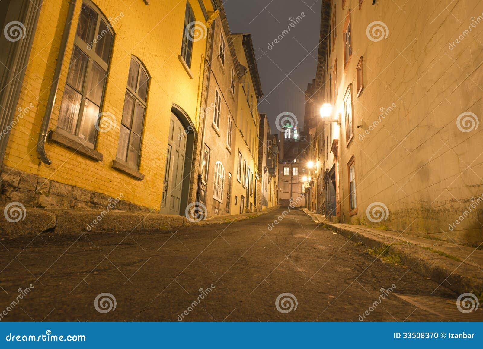 Quebec city night view