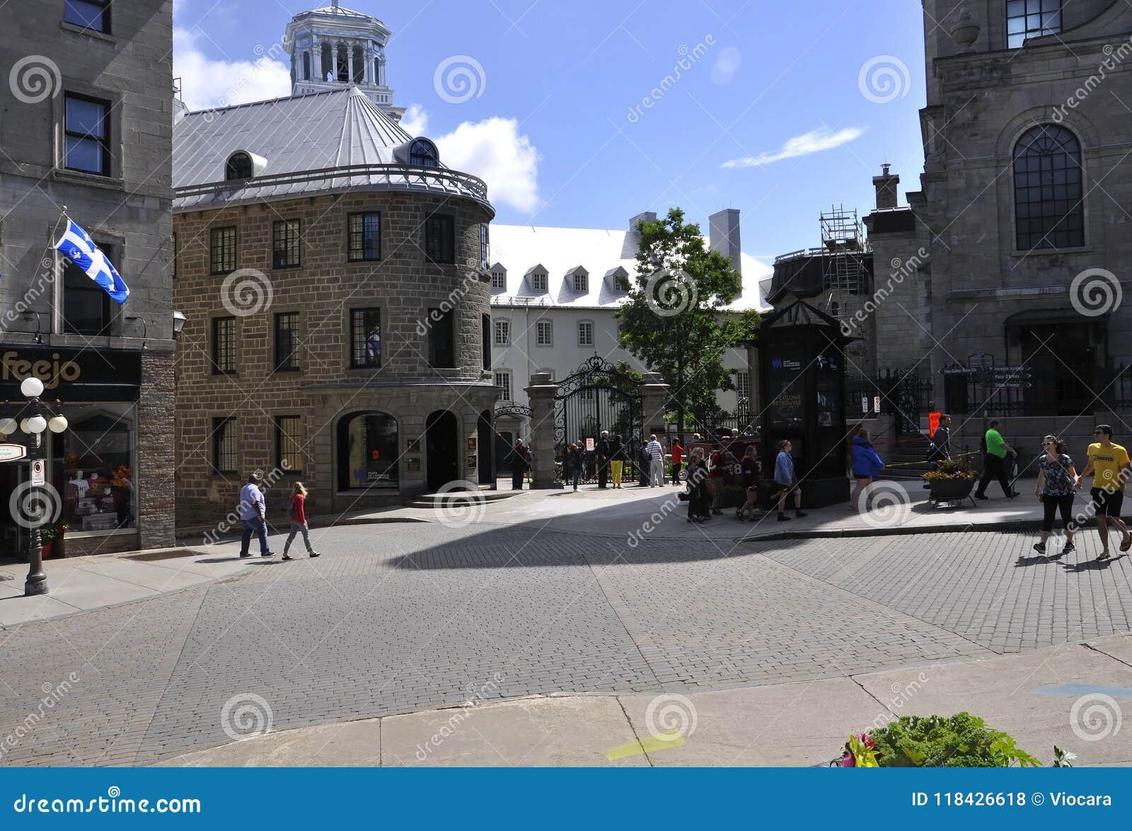 Quebec, 28th Czerwiec: Laval Ecole d ` Uniwersytecka architektura od Starego Quebec miasta w Kanada