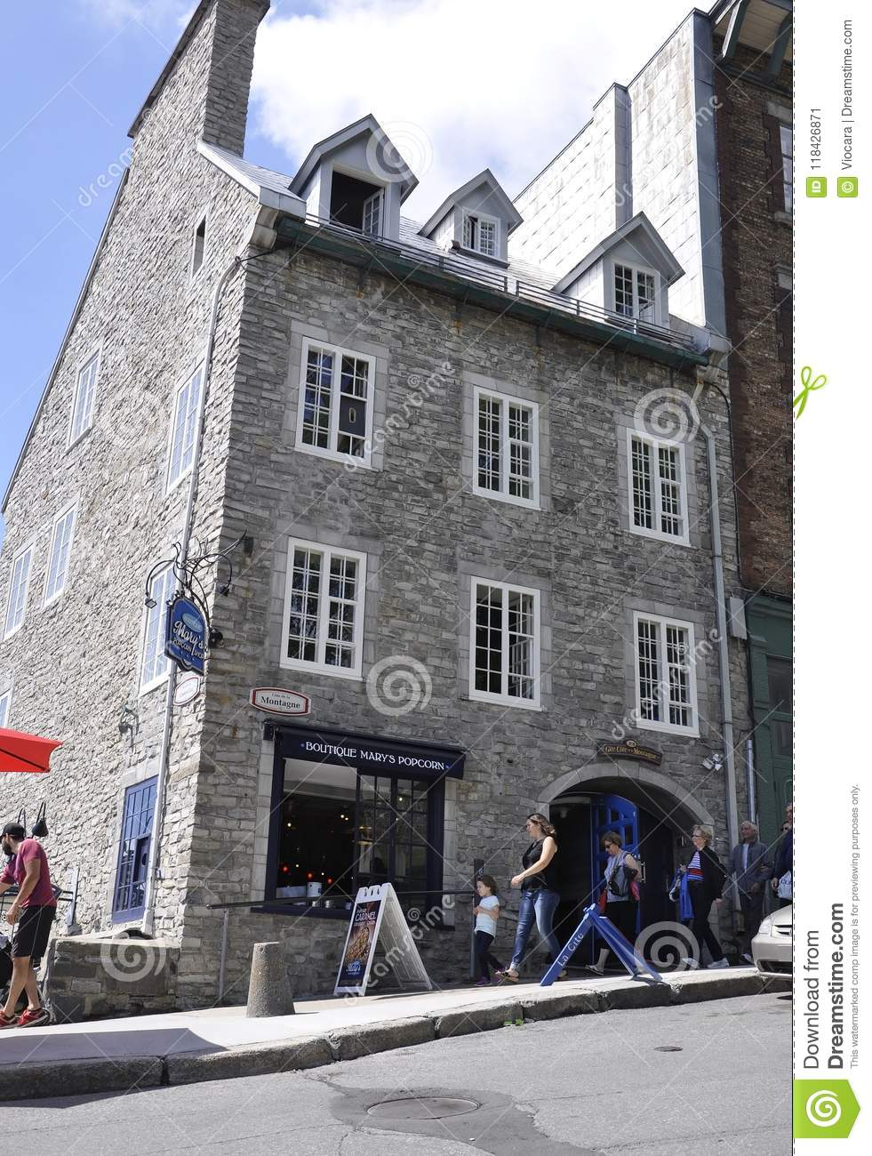 Quebec, 28th June: Historic Buildings From Rue Cote De La