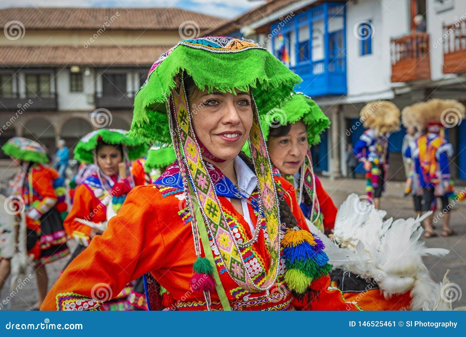 Quechua dam Portrait i Cusco, Peru