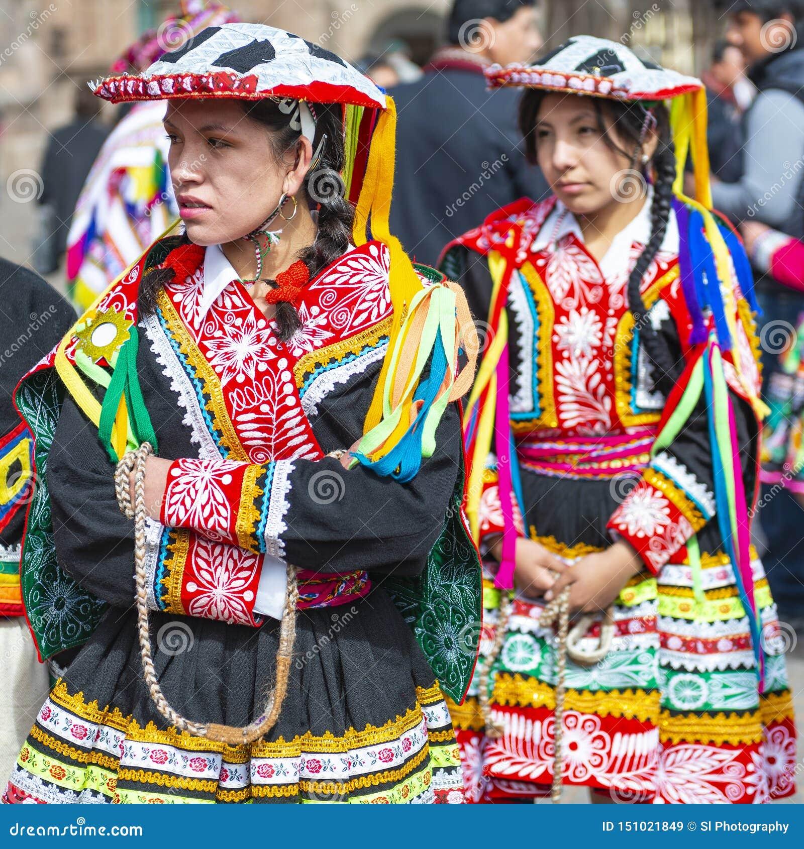 Quechua Inheemse Vrouwen, Inti Raymi Festival, Cusco