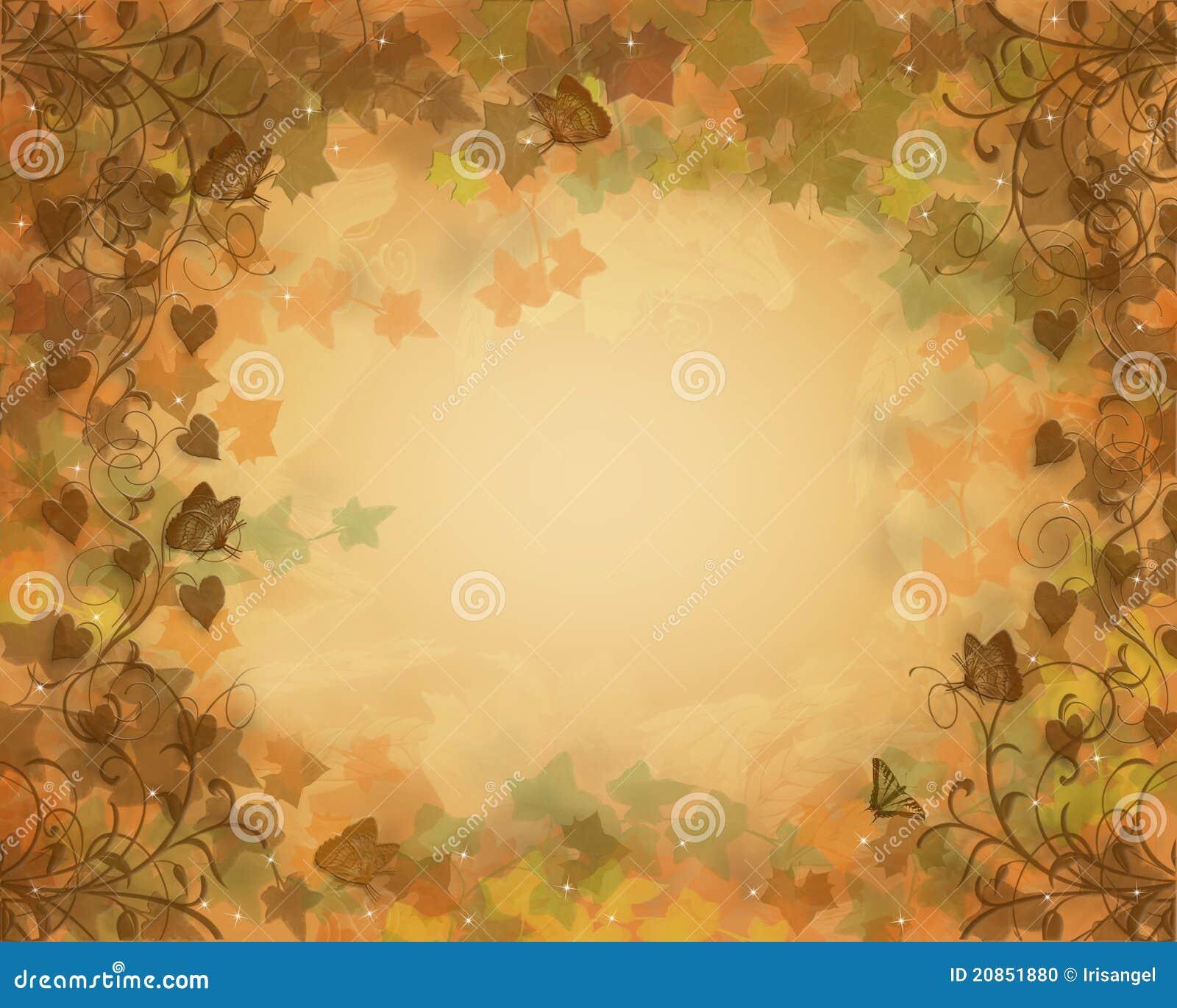 A queda deixa o fundo do outono