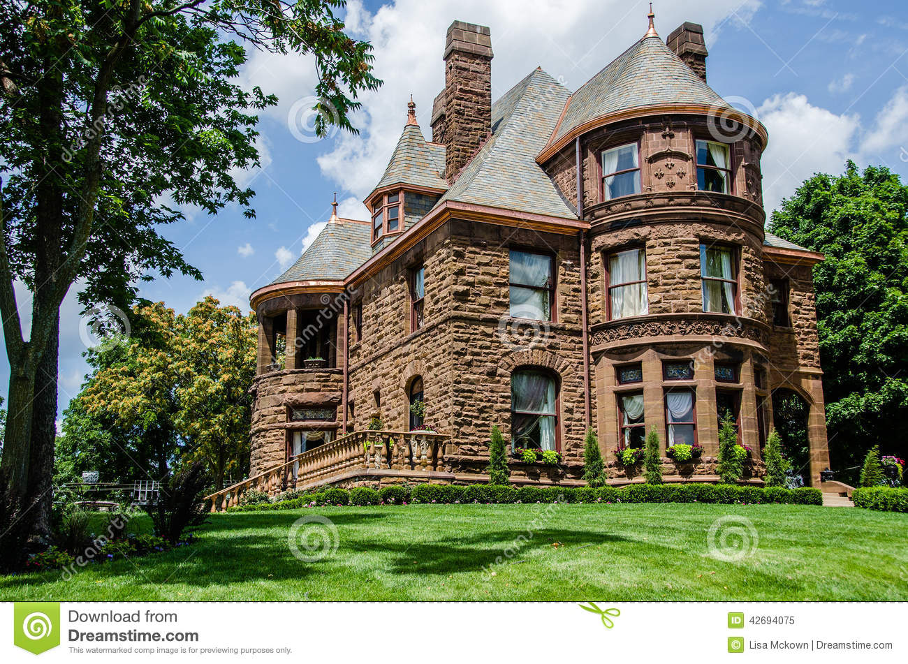 Queen Anne Style Home Stock Photo Image 42694075