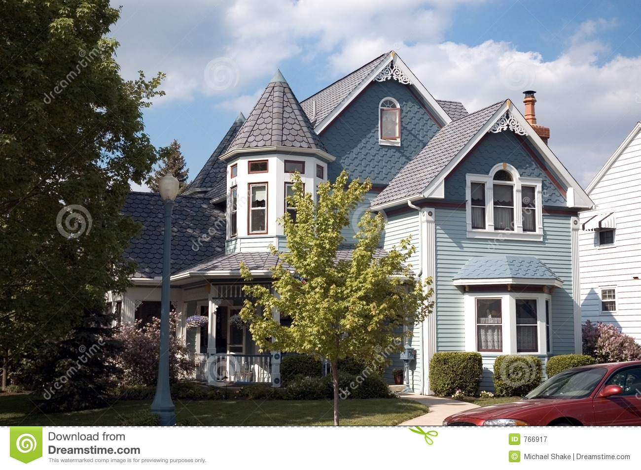 Queen anne victorian home royalty free stock photography for Queen anne victorian house