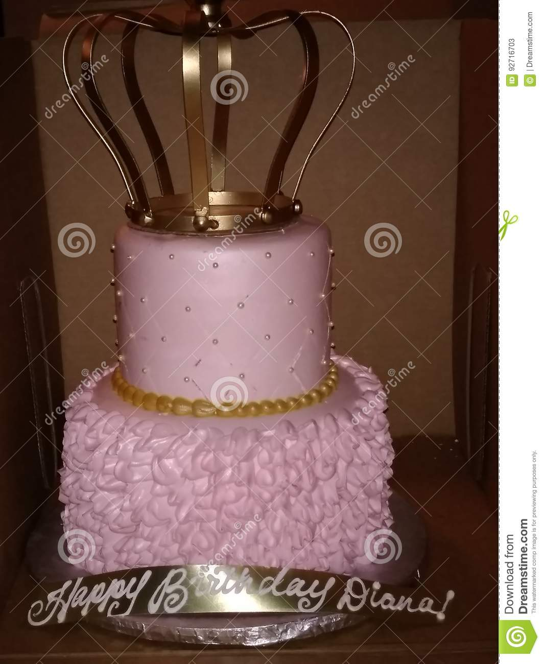 Queen Birthday Cake Stock Image Of Soft