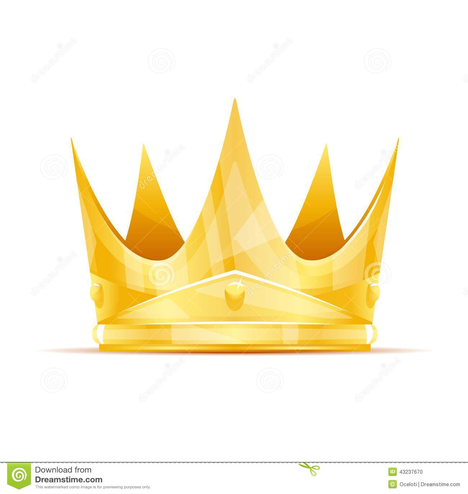Golden queen crown with sharp edges, eps10 .