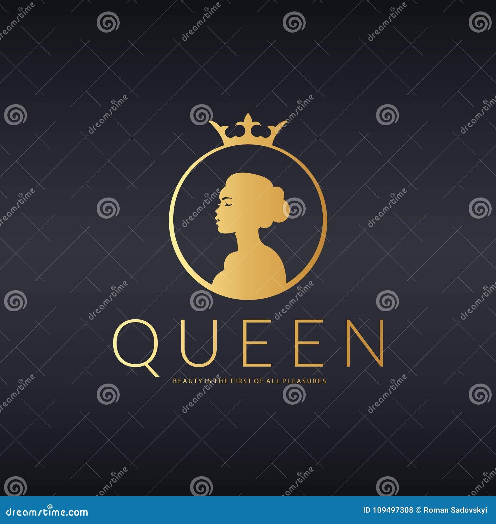 Queen Logo. Beauty Logo. Vector Logo Design For Beauty