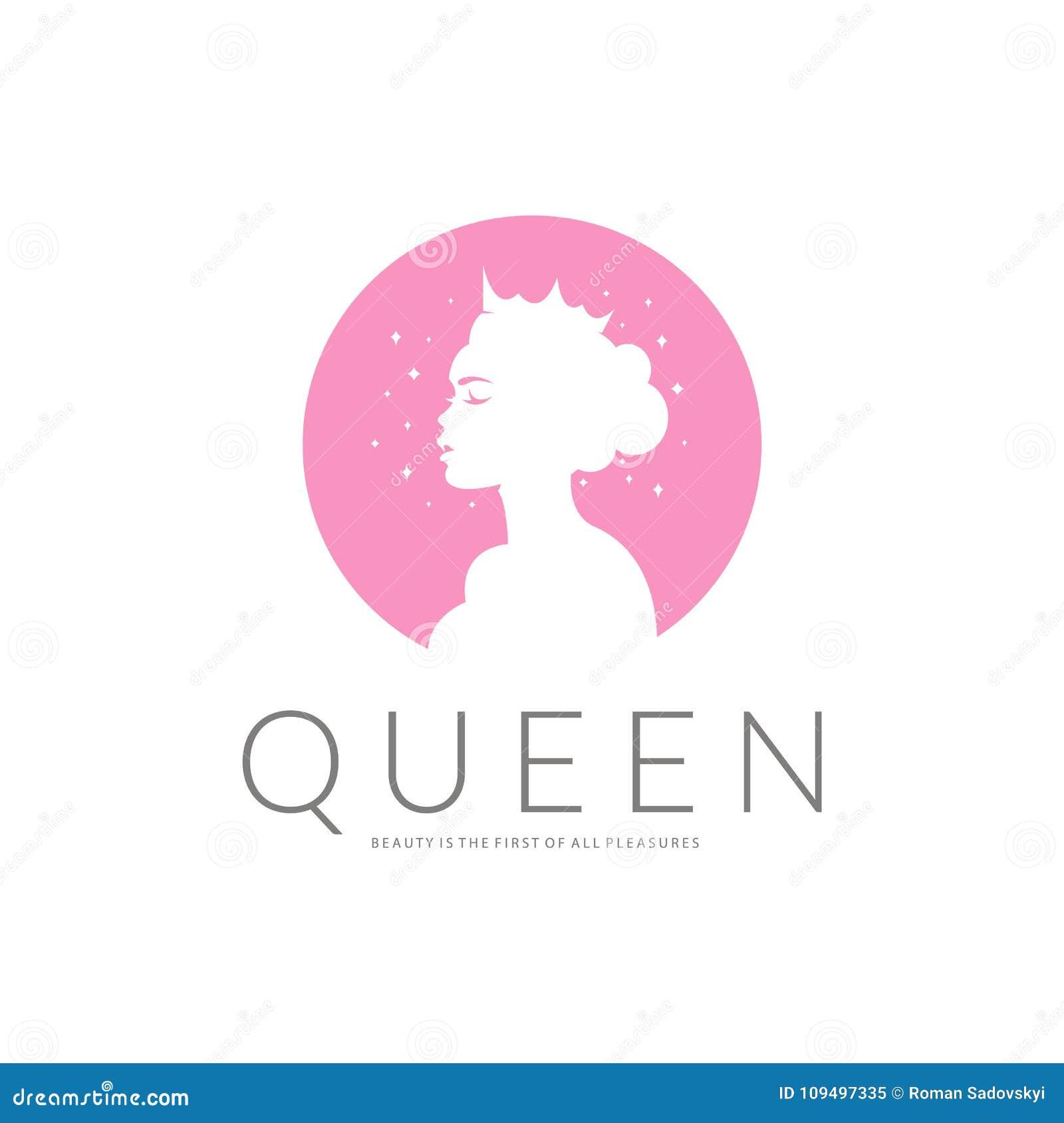 Queen Logo Beauty Logo Vector Logo Design For Beauty Salon Hair Salon Cosmetic Stock Vector Illustration Of Cosmetic Family 109497335