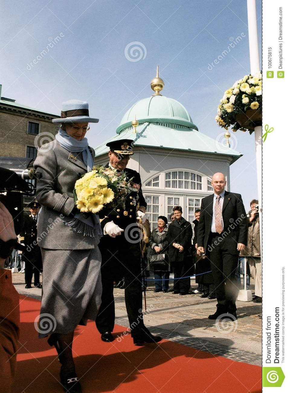 Download QUEEN MARGRETHE II AND PRINCE HENRIK OF DENMARK Editorial Image - Image of images, illunstration: 100675815