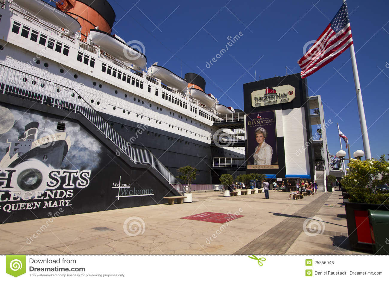 Queen Mary Ozean Kreuzschiff Zwischenlage Redaktionelles Foto Bild