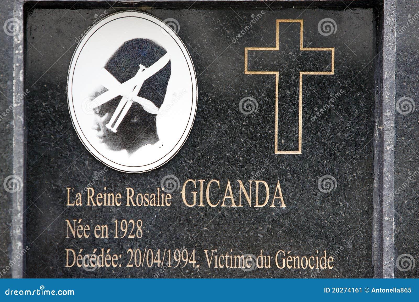 Queen Rosalie Gicanda grave