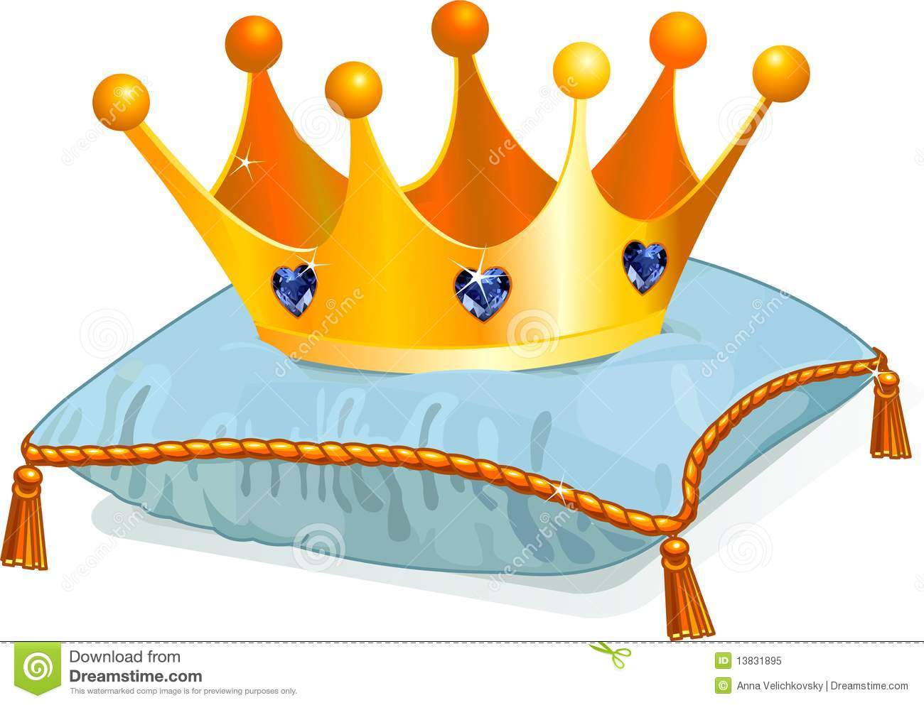 Queen 39 s crown on the pillow stock vector illustration of - Clipart couronne ...