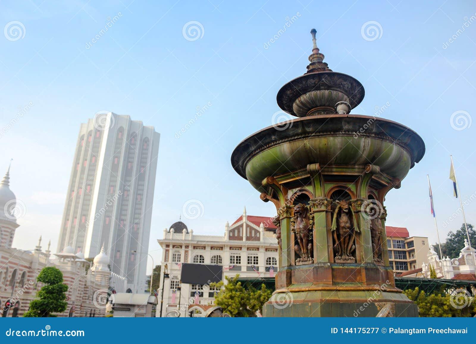 Queen Victoria Fountain At Merdeka Square, Kuala Lumper