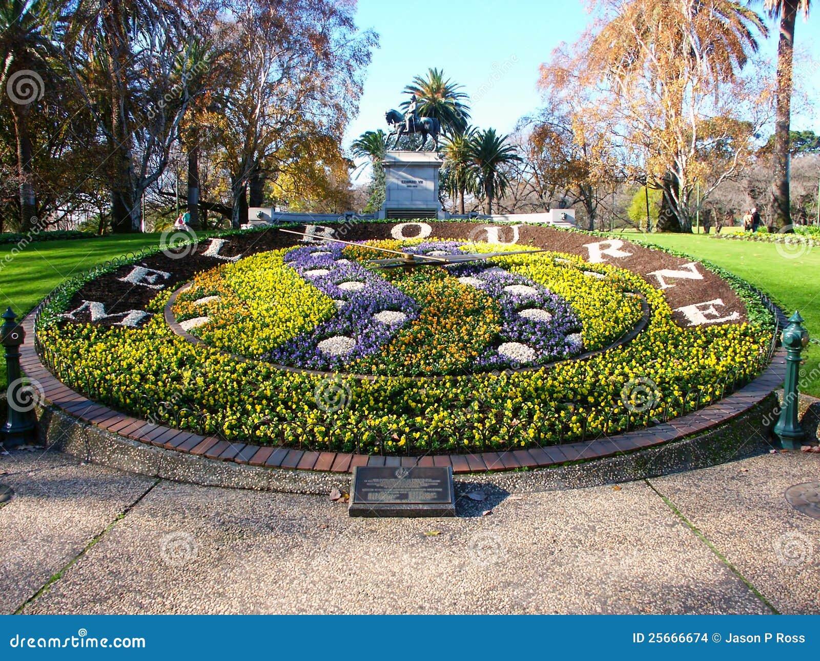 Queen victoria gardens floral clock editorial stock image image 25666674 for Victoria s secret victoria gardens