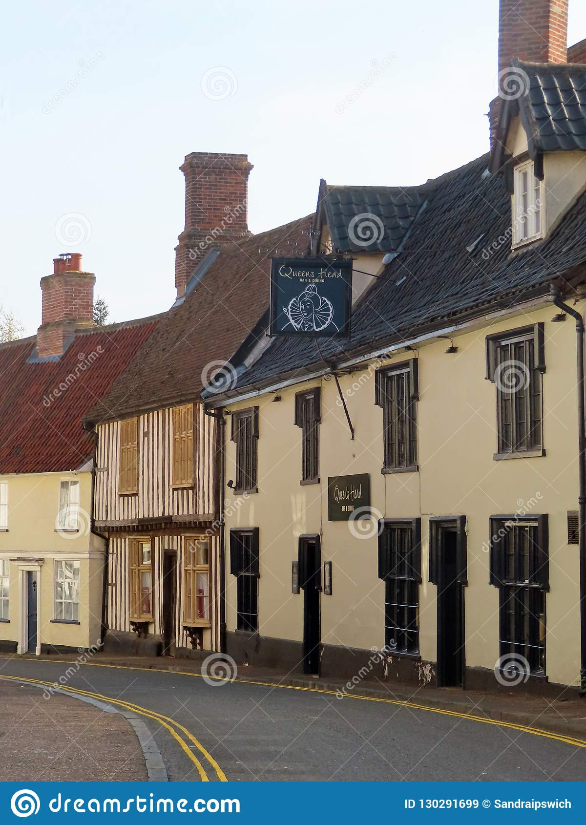 The Queens Head Wymondham Editorial Stock Image Image Of Town