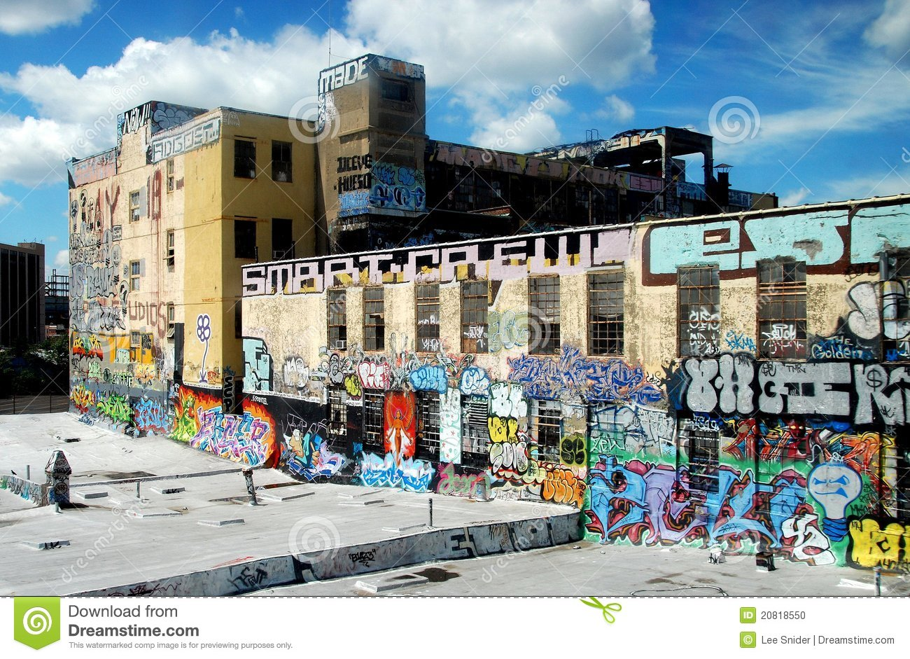 Graffiti wall in queens ny - Editorial Stock Photo