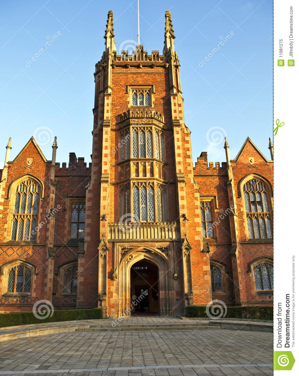 Queens University Belfast Front Entrance 1 Royalty Free
