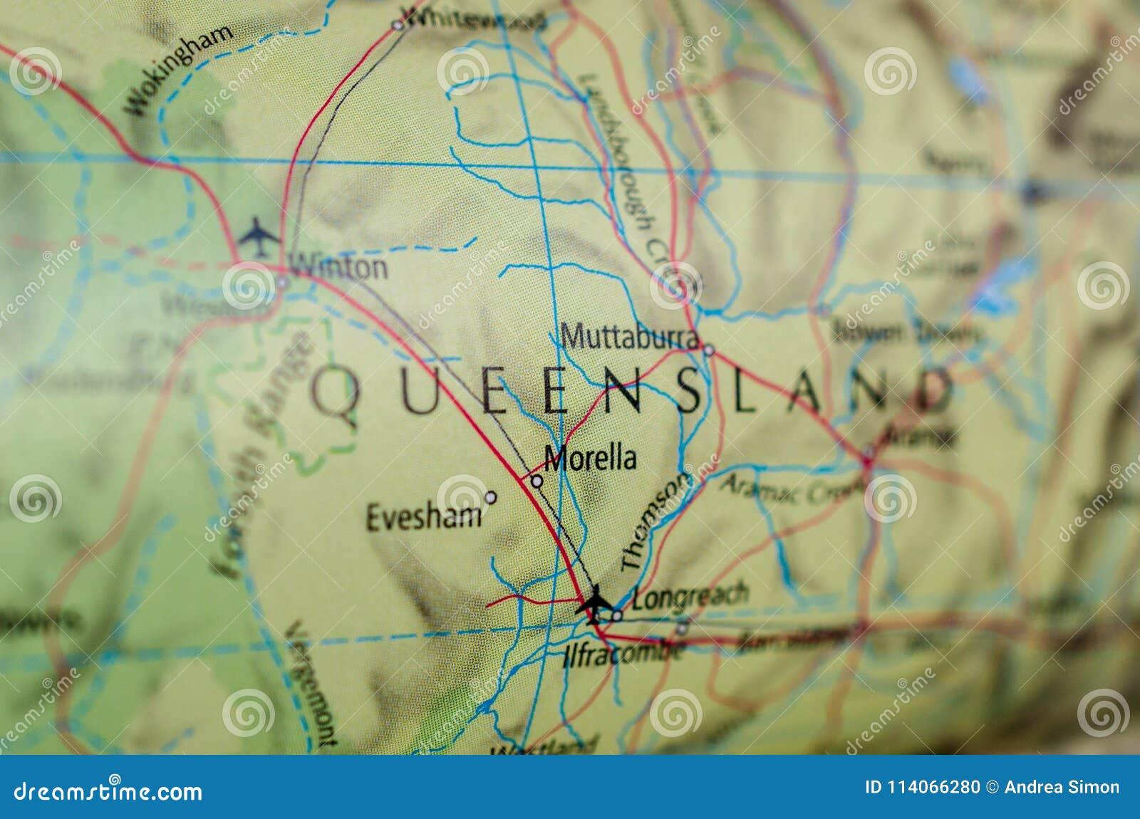 Queensland op kaart