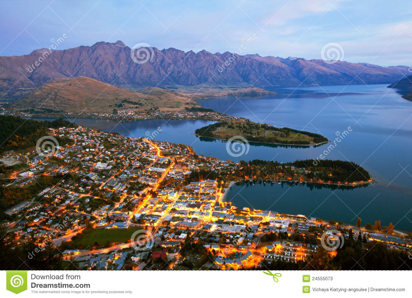 New Zealand Time Image: Queenstown New Zealand Stock Photos