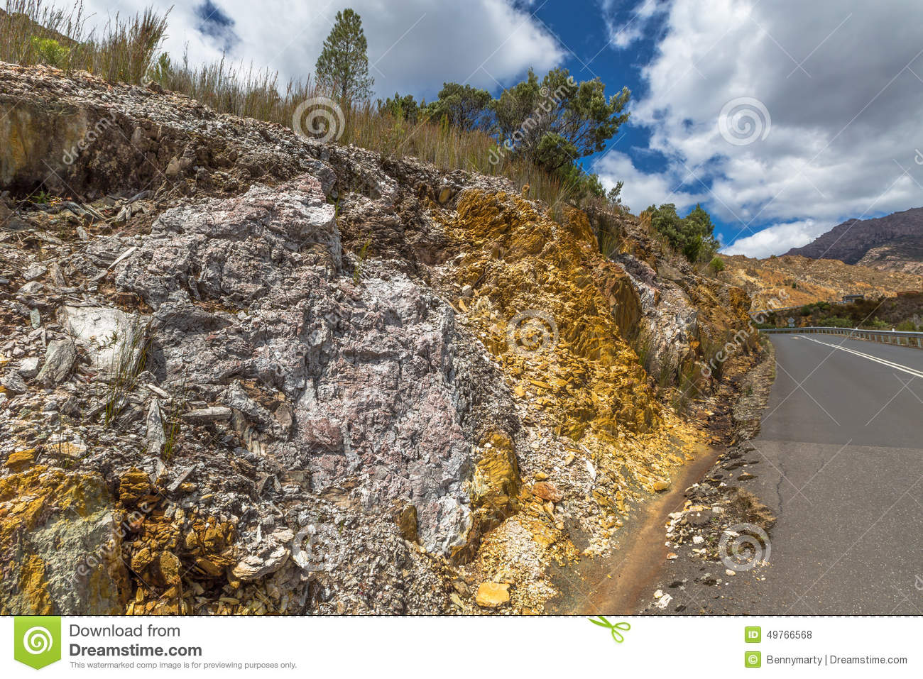Landscape around queenstown tasmania stock photography for Landscaping rocks tasmania