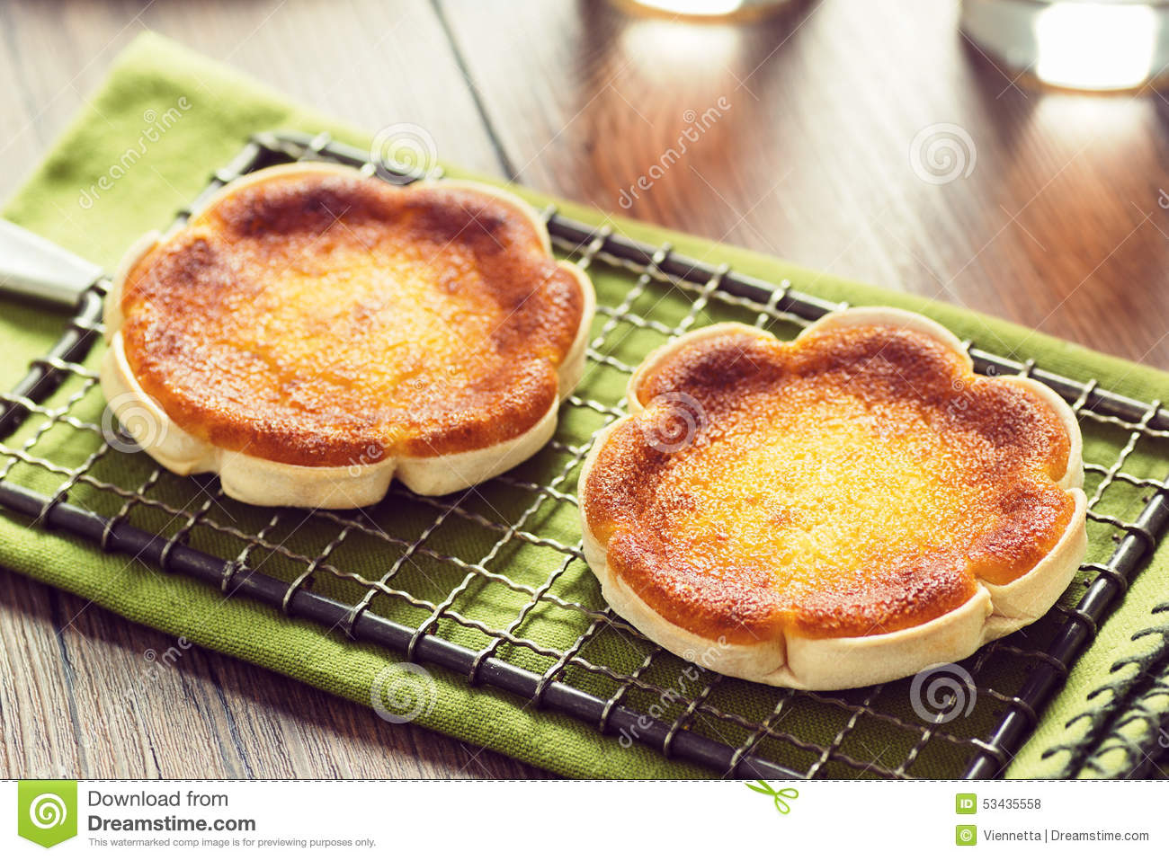 Queijadinhas, Or Portuguese Cheese Cakes Stock Photo - Image