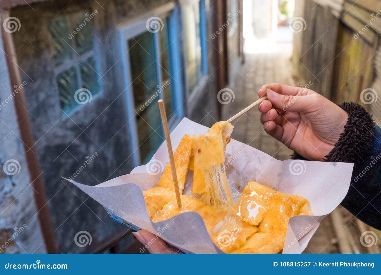 Queijo de Roti com leite condensado abrandado