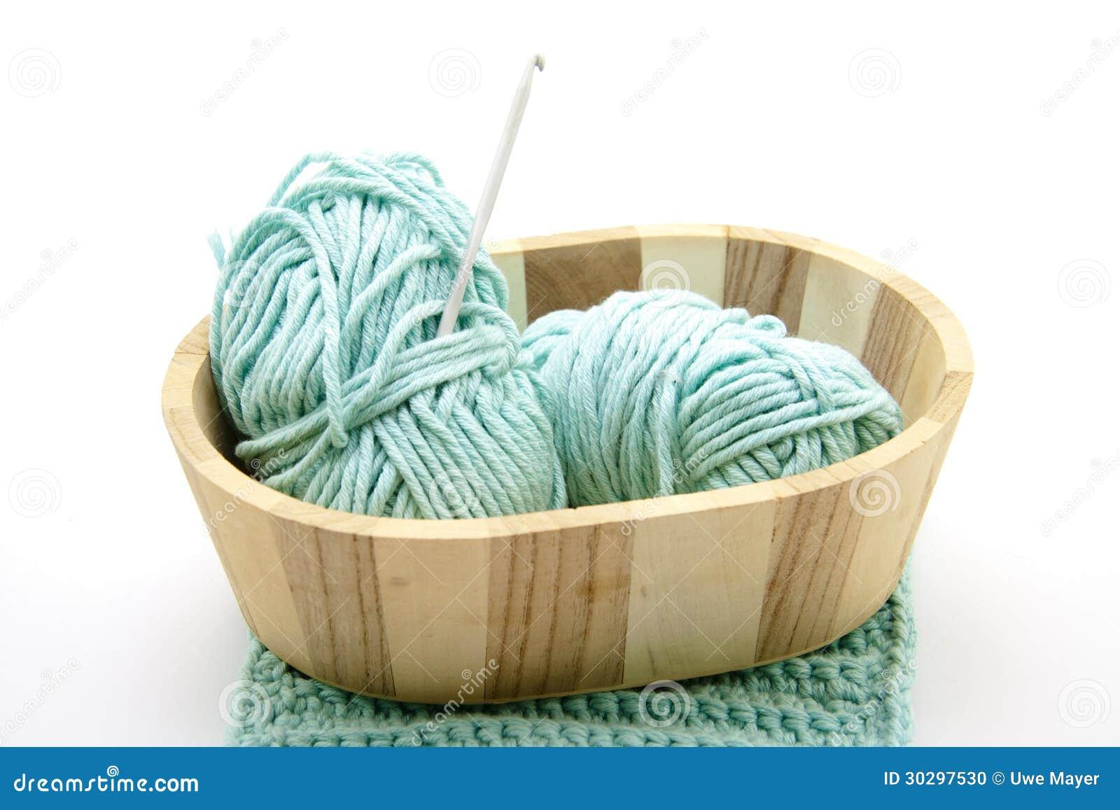 Queira com agulha de crochet