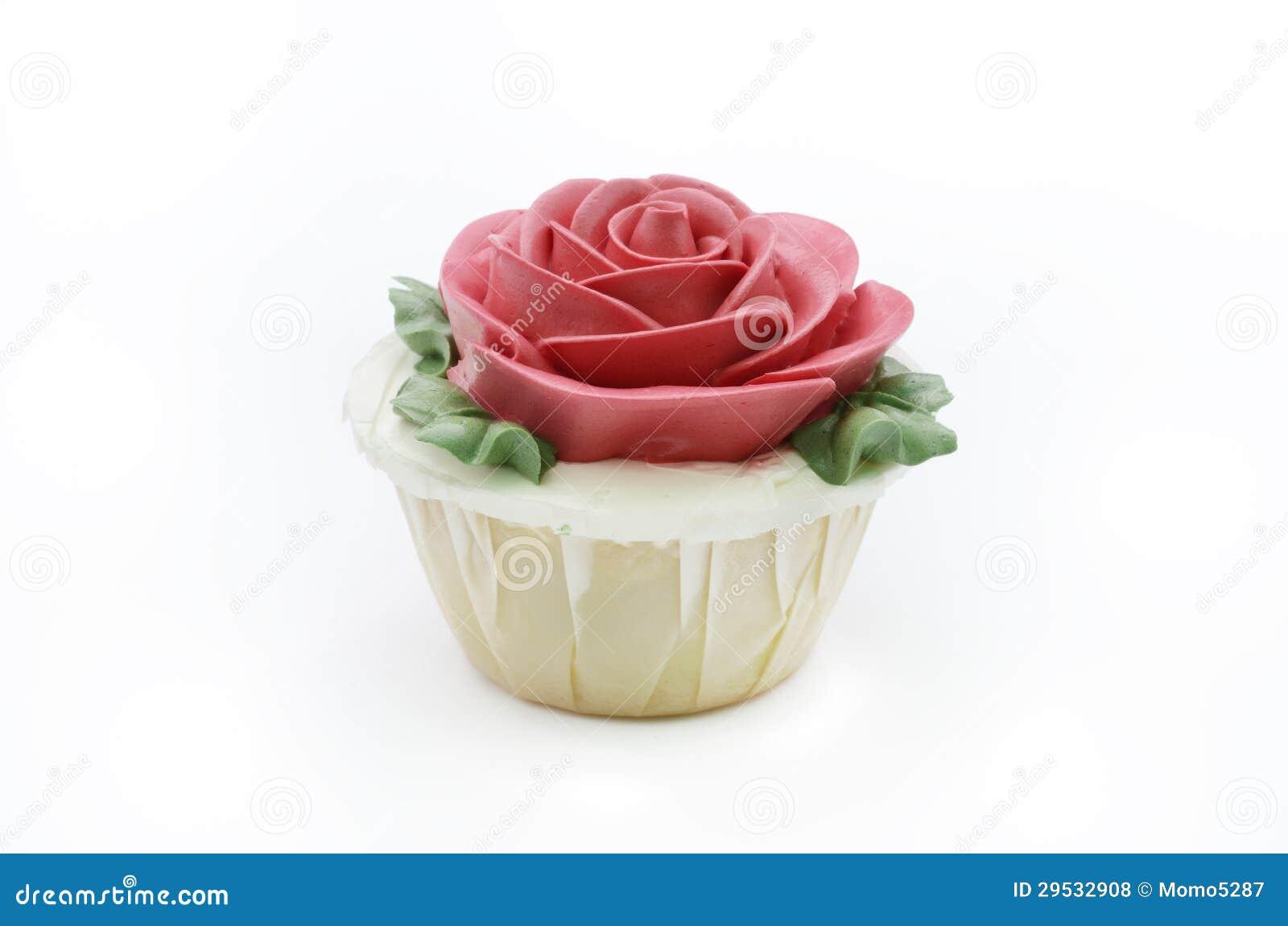 Queque da rosa do vermelho