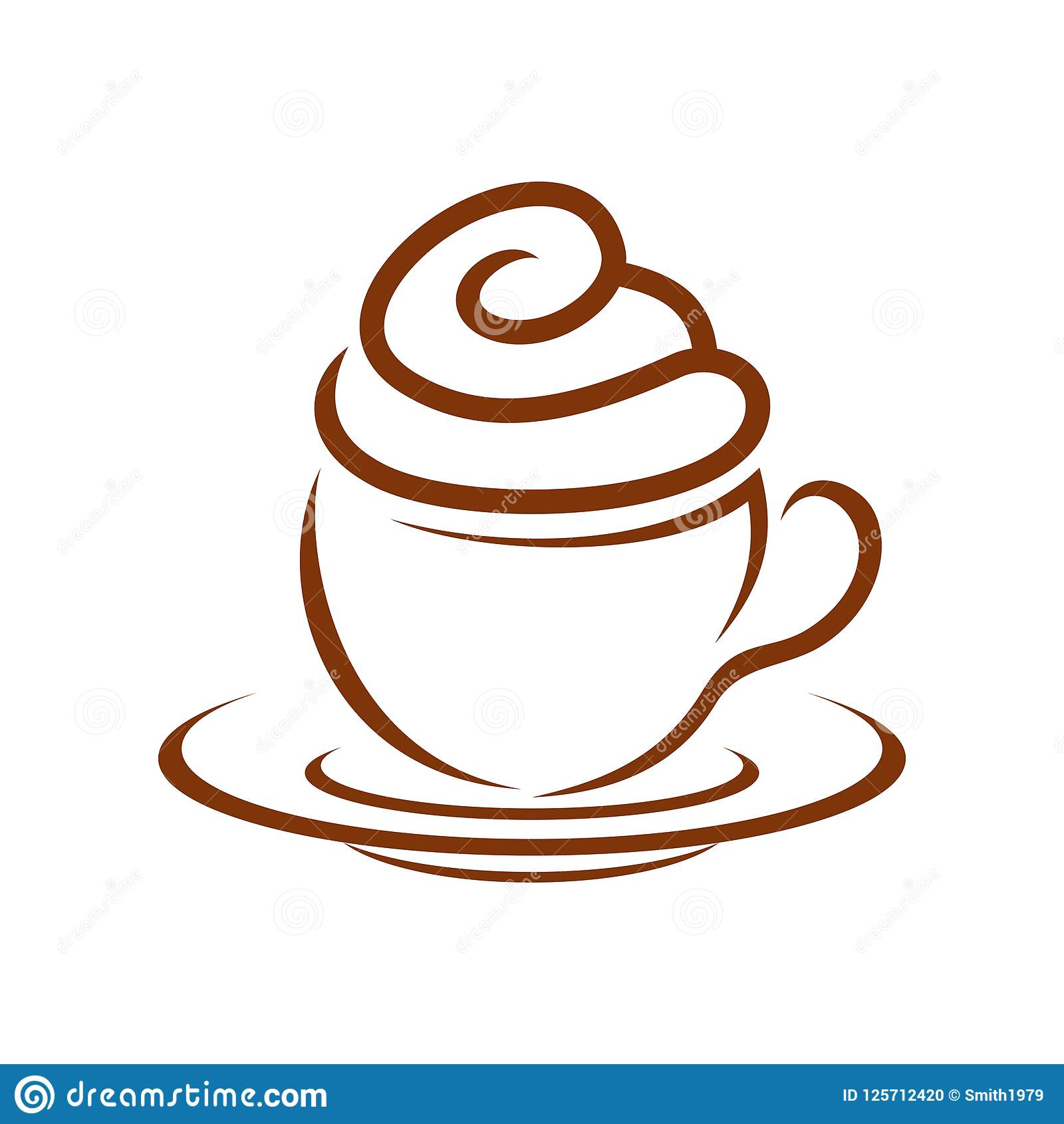 Queque Whip Cream Breakfast Symbol Design do café